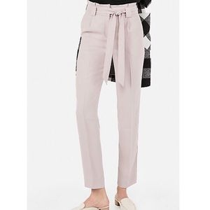 High Waisted Sash Tie Ankle Pant - Size 10 R